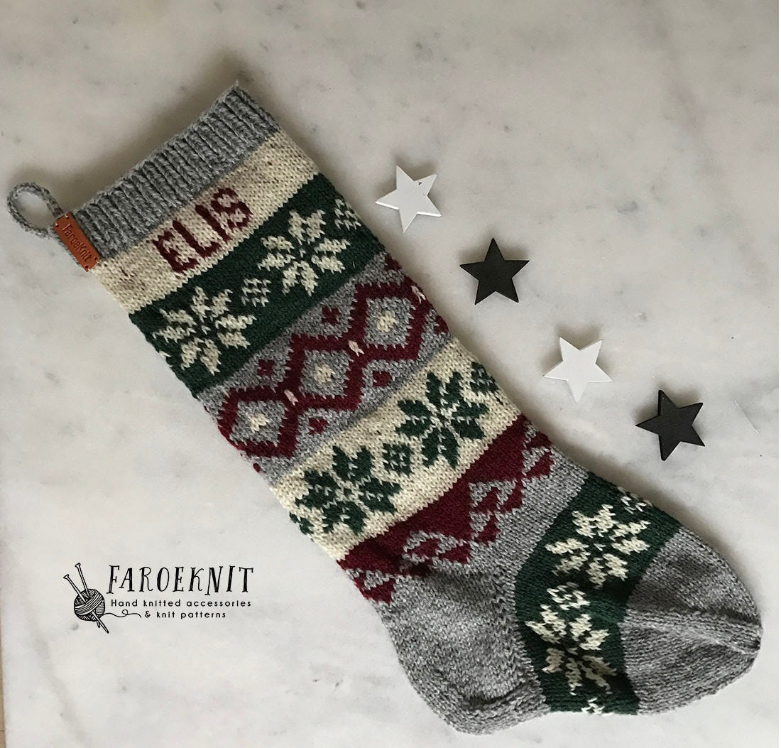 Christmas stocking pattern knit pdf stocking pattern zoom bankloansurffo Choice Image