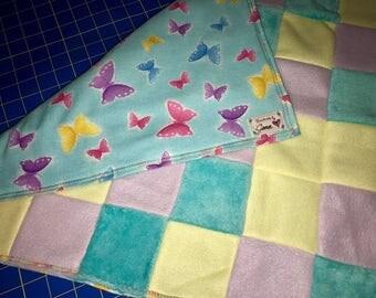 Butterfly pastel blanket