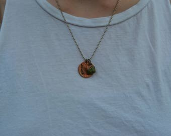 Lucky Penny Necklace (Vertical)