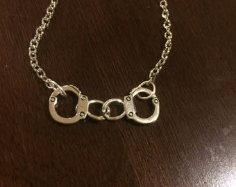 Handcuff Silver-Chained Necklace