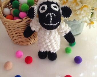 Crochet Curly Lamb