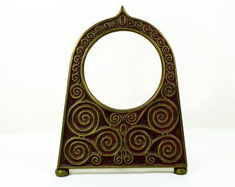 Art Deco Brass Picture Frame