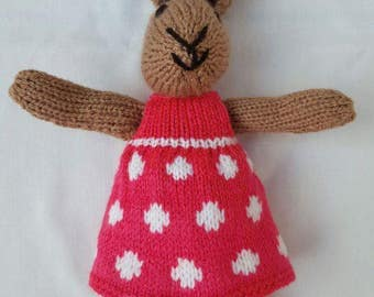 Cute knitted bunny rabbit 'Ruby'