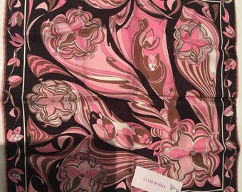 Vintage Emilio Pucci silk scarf with tags