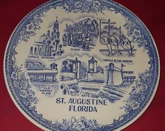 St. Augustine, Fl. Souvenir plate