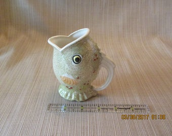 Vintage Ceramic Luster Ware Fish Creamer Japan