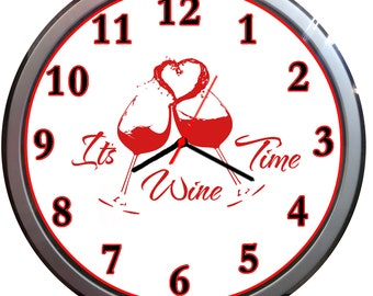 Novelty IT'S vine time  silver wall clock