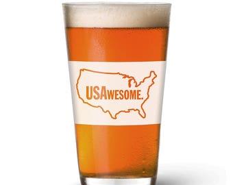 USAwesome Pint Glass