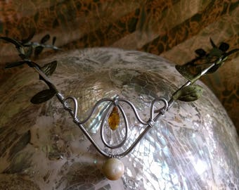 Elven Circlet - Amazonite Tiara - Woodland Crown - Fairy Crown