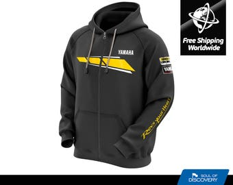 Yamaha 60th Anniversary Zipped Hoodie - Free Shipping All Over The World
