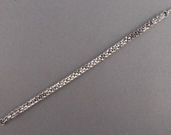 Bracelet of nuts - stainless steel with spring clasp