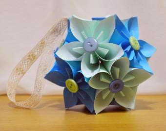 Sale now on. 25% off. Japanese Kusudama origami paper flower ball