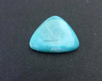 Excelent  Quality Larimar Cabochon Gemstone, Triangle Shape Larimar Gemstone, Flat Base Gemstone , Loose Cabochons Size 24x29x6 Mm