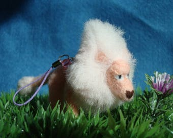 Needle felted Lion (Steven Universe) plush keychain
