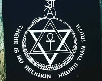 No Religion Back Patch