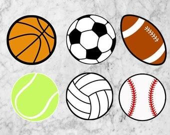 Sport Svg, Balls clipart, Football svg, Soccer svg, Baseball Svg, Sports svg, eps, & png, Sport Dxf, Balls dxf, Sport balls svg