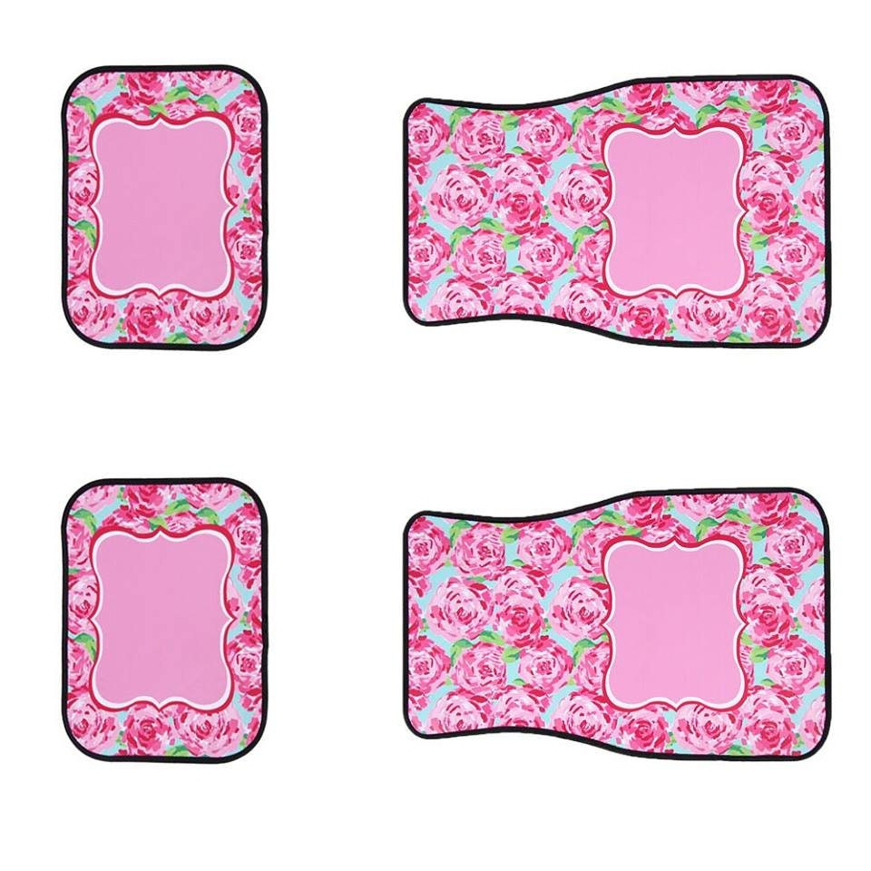 Floor mats kenya - Lilly Pulitzer Inspired Blank Car Floor Mats For Vinyl Personalized Vehicle Floor Mat Monogram Front Car Mat Blank Back Car Mat Diy Er