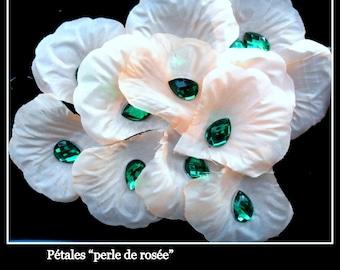 50 rhinestone pear shaped deco emerald green marriage of 10 mm X 14 mm