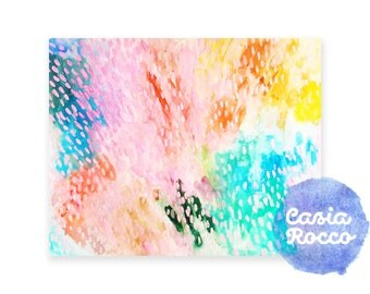 Colorful Abstract Watercolor Print