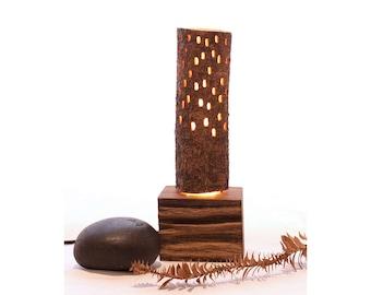 Bunya Lamp_8  // wooden lamp // night light // mood lighting // salvaged timber