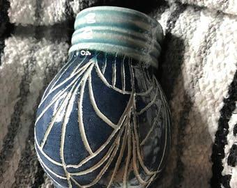 Ceramic bmix sgrafitto tumbler