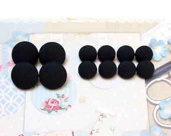 Navy Blue Wool Tuxedo Buttons, Mens Suit Jacket and Sleeve Buttons Set, 4 front and 8 sleeve, Woolen Buttons