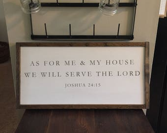 As for me and my House - Wooden Sign