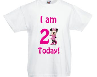 Minnie Mouse Birthday T shirt - Any Age!!