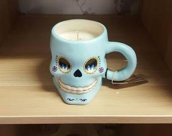 Sugar Skull Mug Candle