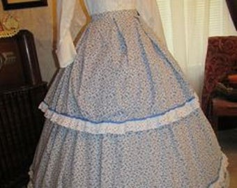 1860's style skirt and bodice