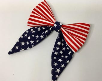 American Flag Sailor Bow