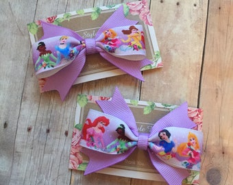 Disney Princess Mini Bows, Pigtails