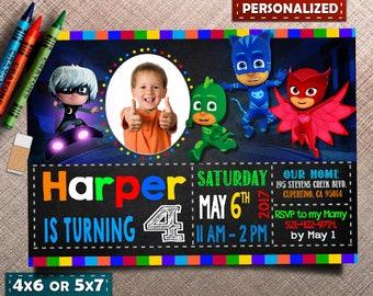 Pj Masks Invite, Pj Masks Birthday, Pj Masks Invitation, Pj Masks Party, Pj Masks Birthday Invitation, Pj Masks Birthday Invite, Pj Masks