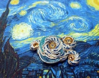 "Brooch ""the Starry night"""