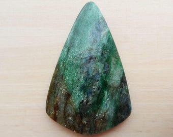 Fuchsite cabochon free form shape