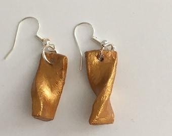 Spiral Dangle Clay Earrings