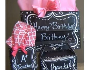 Chalkboard Gift Bags (set of 20)  8 x 4.75 x 10.25