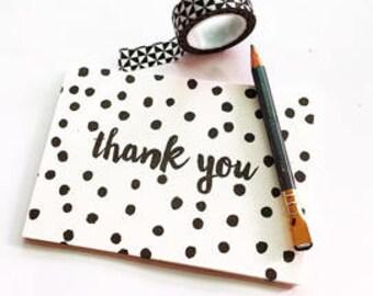 Little Paper Lane- Black dots Thank-You card set