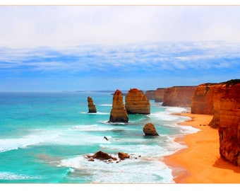 Great Ocean Road: Table travel photography large format - perfect for decorating your home or give as a gift!