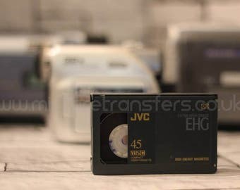 VHS-C Video8 Hi8 Digital8 MiniDV Video Transfer to DVD home movies Camcorder Tapes