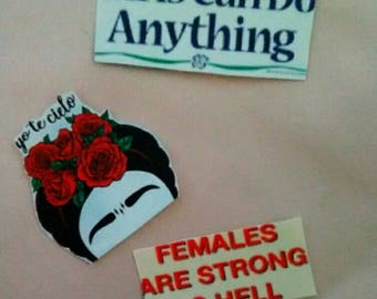 Feminist // Frida Kahlo sticker pack