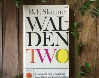 Walden Two B.F. Skinner Philosophy Psychology Vintage Used Book