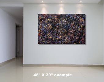 """24"""" x 60"""" X-large abstract painting"""