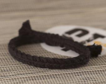 Black woven friendship bracelet