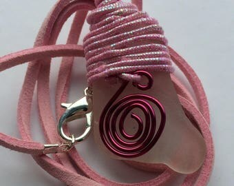Pink Glitter Swirl