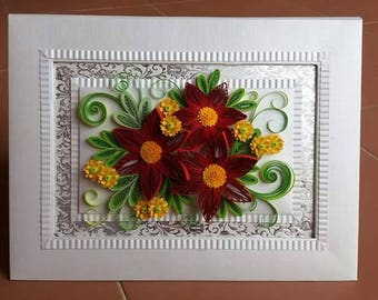 Paper Quilling Flower Deco