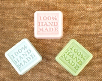 100% Handmade Style Natural Goat's Milk Soap Squares