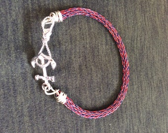 Norse wire weave bracelet with nautical clasp