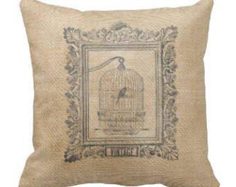 Farmhouse Birdhouse Decorative Pillow