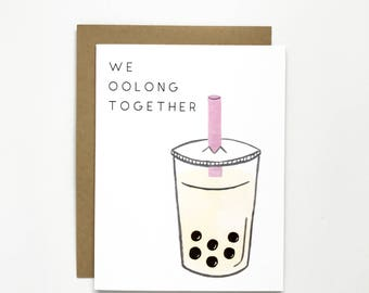 We Oolong Together - Love Card, Anniversary Card